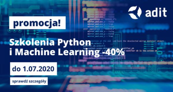 Promocja na szkolenia Python i Machine Learning!